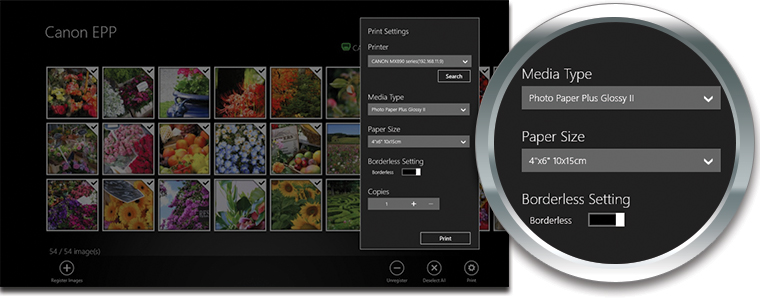4. Confirm print settings in the new window and tap 'Print'.